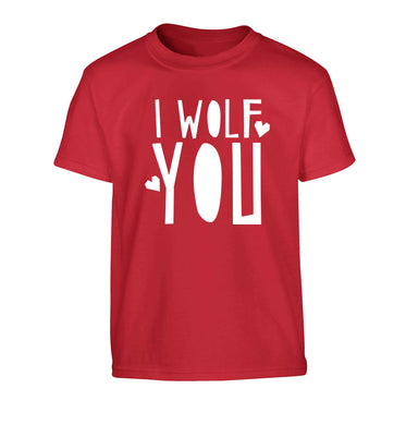 I wolf you Children's red Tshirt 12-13 Years