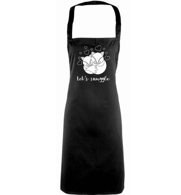 Let's snuggle adults black apron
