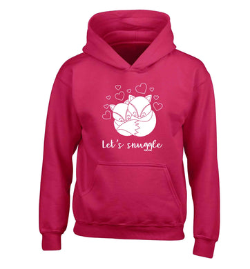 Let's snuggle children's pink hoodie 12-13 Years