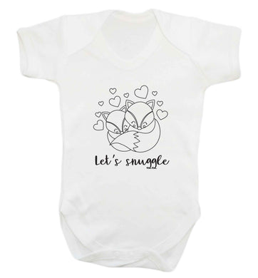 Let's snuggle baby vest white 18-24 months