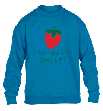 So berry sweet children's blue sweater 12-13 Years