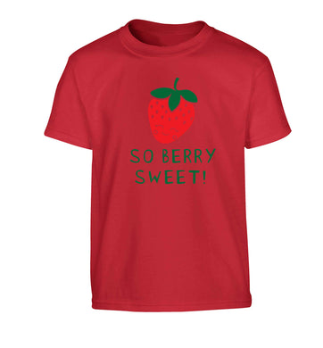 So berry sweet Children's red Tshirt 12-13 Years