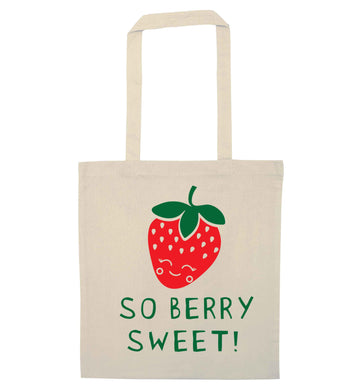 So berry sweet natural tote bag