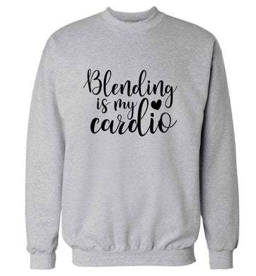 Blending is my cardio adult's unisex grey sweater 2XL