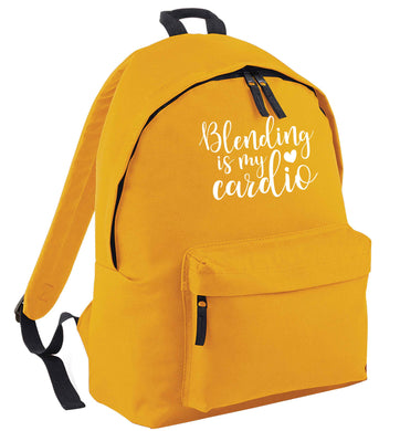 Blending is my cardio mustard adults backpack