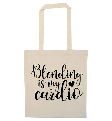 Blending is my cardio natural tote bag