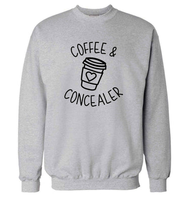 Coffee and concealer adult's unisex grey sweater 2XL