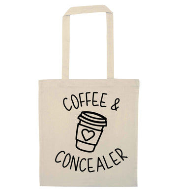 Coffee and concealer natural tote bag