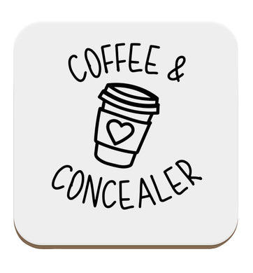 Coffee and concealer set of four coasters