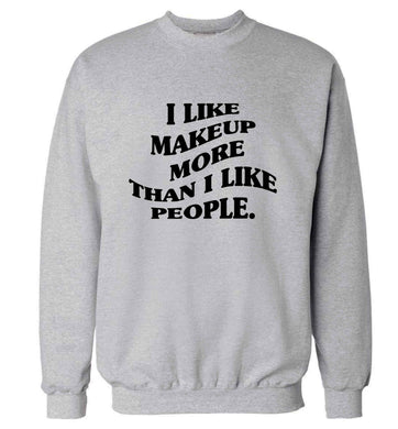I like makeup more than people adult's unisex grey sweater 2XL