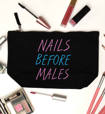 Nails before males black makeup bag