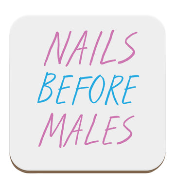 Nails before males set of four coasters