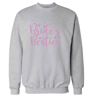 Brides besties adult's unisex grey sweater 2XL