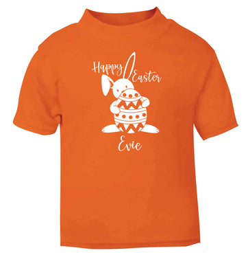 Happy Easter - personalised orange baby toddler Tshirt 2 Years