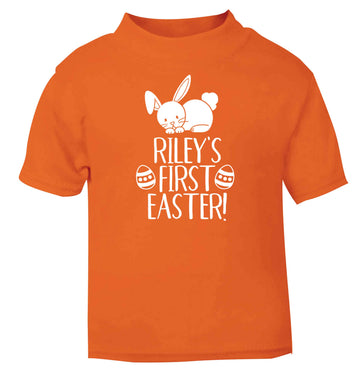 Personalised first Easter orange baby toddler Tshirt 2 Years