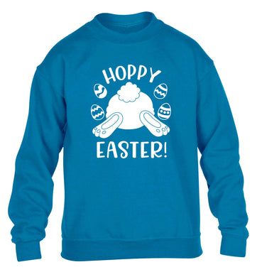 Hoppy Easter children's blue sweater 12-13 Years