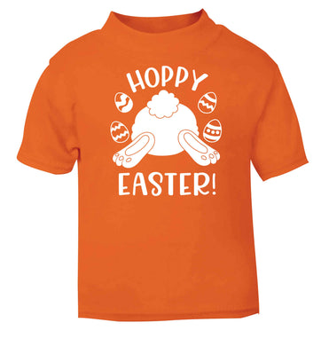 Hoppy Easter orange baby toddler Tshirt 2 Years
