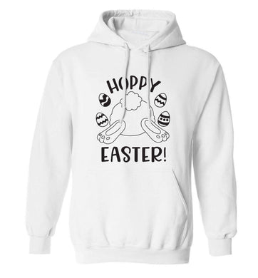 Hoppy Easter adults unisex white hoodie 2XL