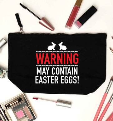 Warning may contain Easter eggs black makeup bag