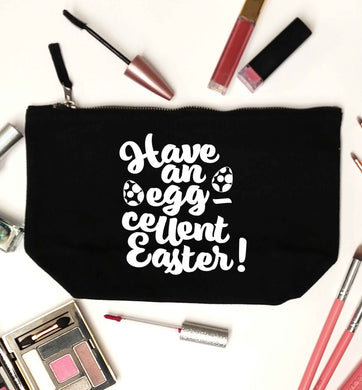 Have an eggcellent Easter black makeup bag