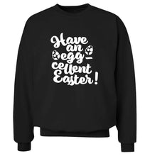 Have an eggcellent Easter adult's unisex black sweater 2XL