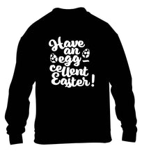 Have an eggcellent Easter children's black sweater 12-13 Years