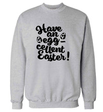 Have an eggcellent Easter adult's unisex grey sweater 2XL