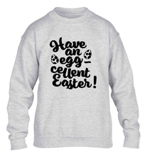 Have an eggcellent Easter children's grey sweater 12-13 Years