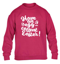 Have an eggcellent Easter children's pink sweater 12-13 Years