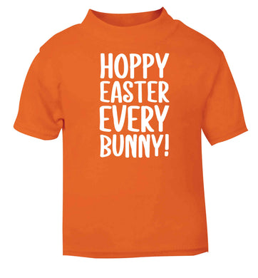 Hoppy Easter every bunny! orange baby toddler Tshirt 2 Years