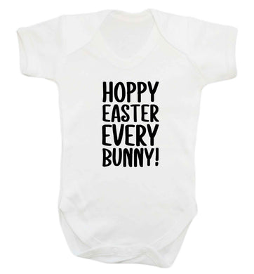 Hoppy Easter every bunny! baby vest white 18-24 months
