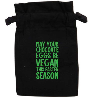 May your chocolate eggs be vegan this Easter season | XS - L | Pouch / Drawstring bag / Sack | Organic Cotton | Bulk discounts available!