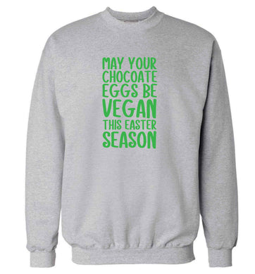 Easter bunny approved! Vegans will love this easter themed adult's unisex grey sweater 2XL