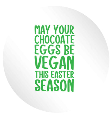 Easter bunny approved! Vegans will love this easter themed 24 @ 45mm matt circle stickers