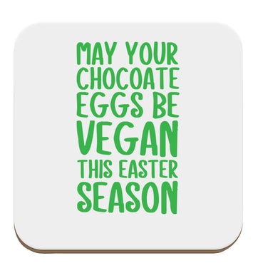 Easter bunny approved! Vegans will love this easter themed set of four coasters