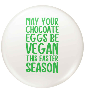 Easter bunny approved! Vegans will love this easter themed small 25mm Pin badge
