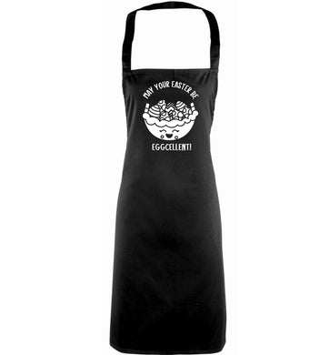 May your Easter be eggcellent adults black apron