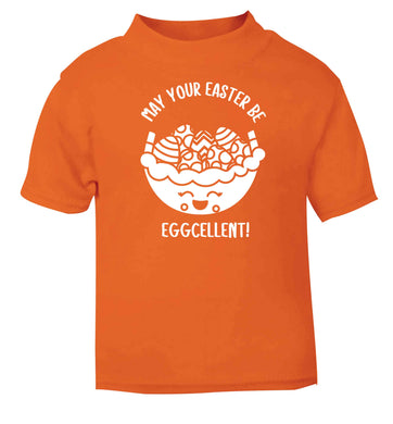 May your Easter be eggcellent orange baby toddler Tshirt 2 Years