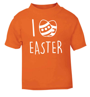 I love Easter orange baby toddler Tshirt 2 Years