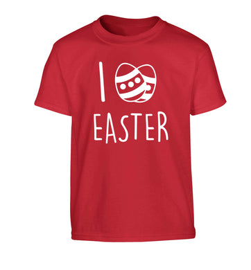 I love Easter Children's red Tshirt 12-13 Years