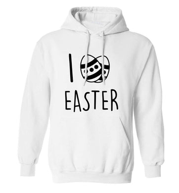 I love Easter adults unisex white hoodie 2XL
