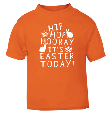 Hip hip hooray it's Easter today! orange baby toddler Tshirt 2 Years