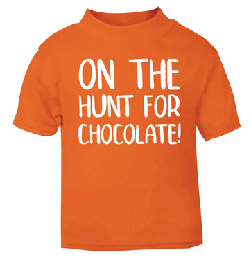 On the hunt for chocolate! orange baby toddler Tshirt 2 Years