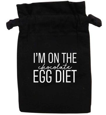 I'm on the chocolate egg diet | XS - L | Pouch / Drawstring bag / Sack | Organic Cotton | Bulk discounts available!