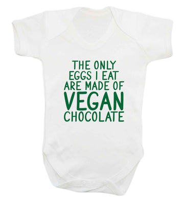 The only eggs I eat are made of vegan chocolate baby vest white 18-24 months