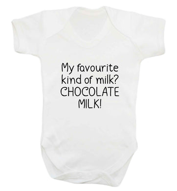 funny gift for a chocaholic! My favourite kind of milk? Chocolate milk! baby vest white 18-24 months