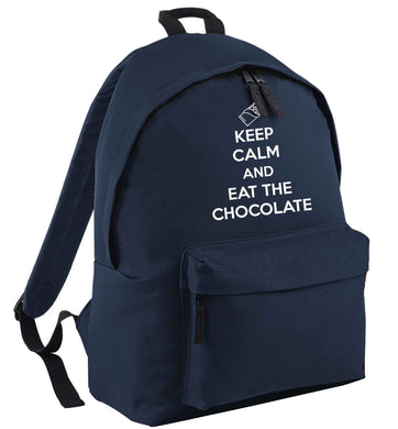 funny gift for a chocaholic! Keep calm and eat the chocolate | Children's backpack