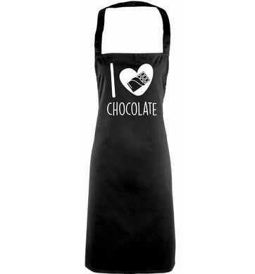 funny gift for a chocaholic! I love chocolate adults black apron