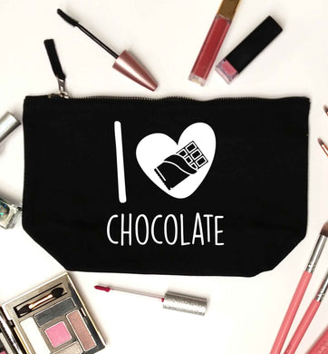 funny gift for a chocaholic! I love chocolate black makeup bag