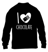 funny gift for a chocaholic! I love chocolate children's black sweater 12-13 Years